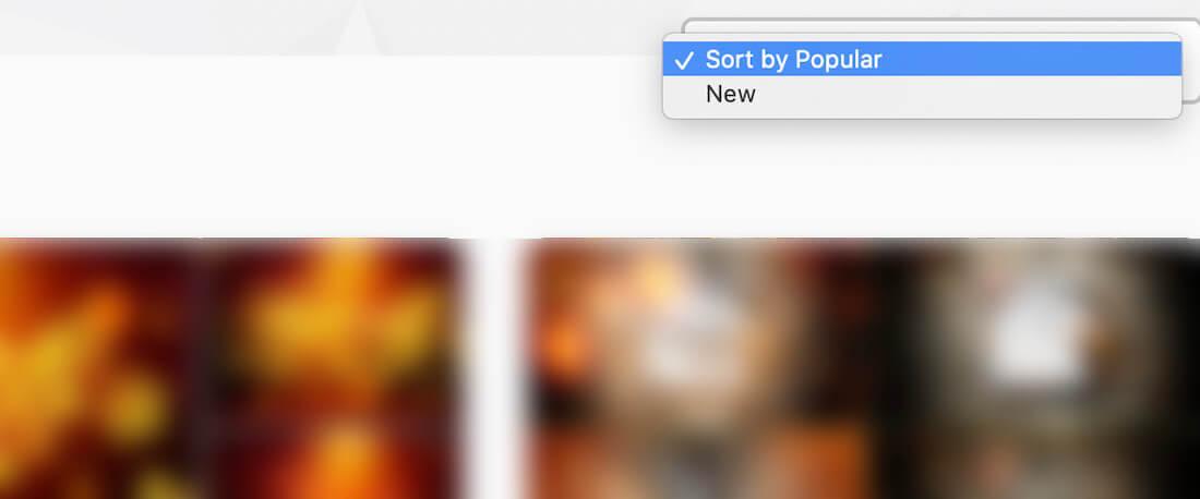 検索結果を並べ替え