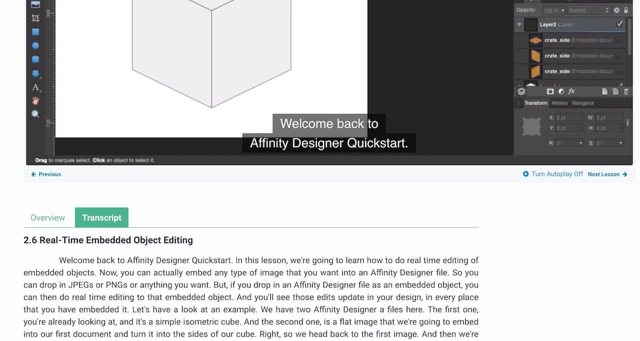 Envato Tuts+にあるAffinity Designerのコース2