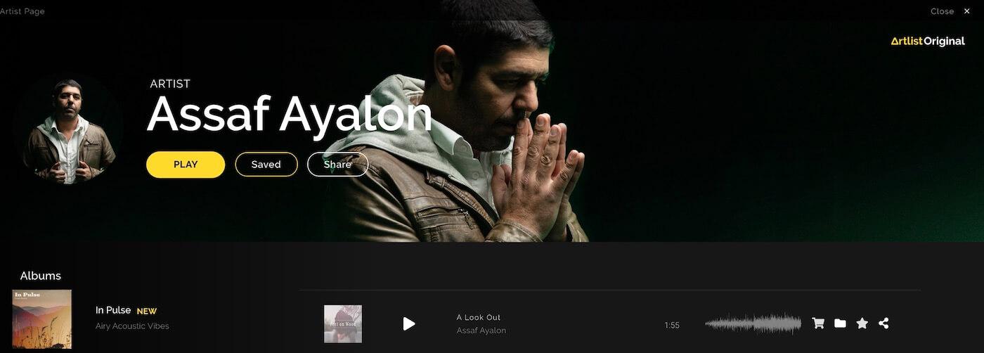 Assaf Ayalonのアーティストページ