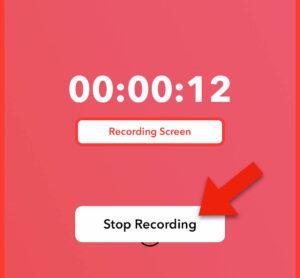 アプリ上で録画を停止する