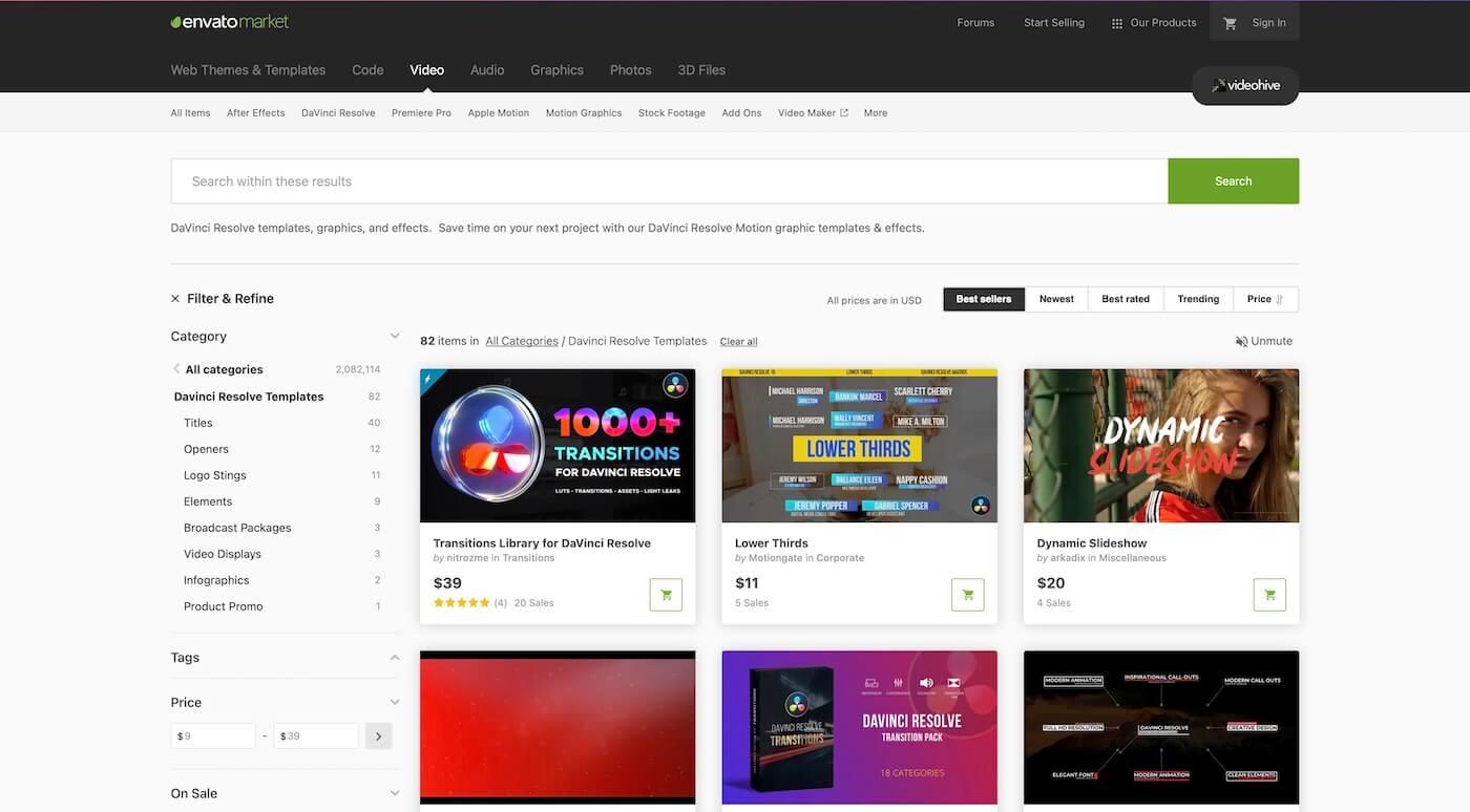 Envato Marketのトップページ