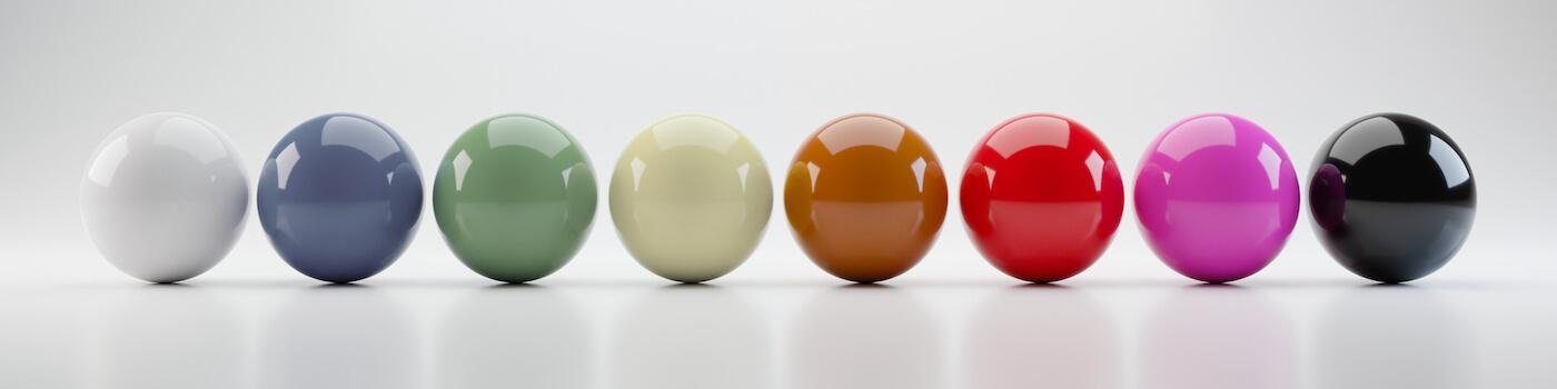 いろんな色のボール