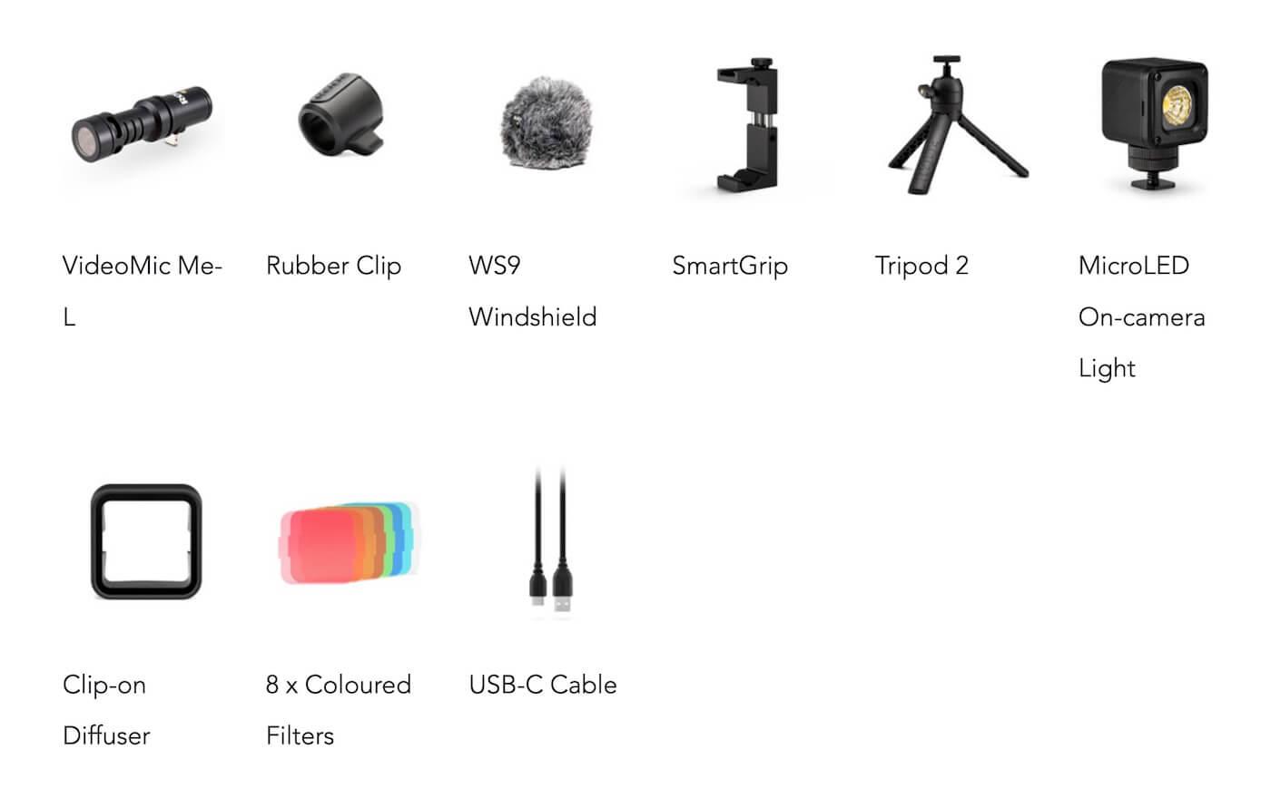 Rode Vlogger Kitの付属品