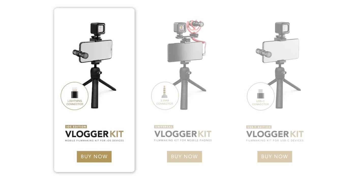 Rode Vlogger Kit iOS エディション