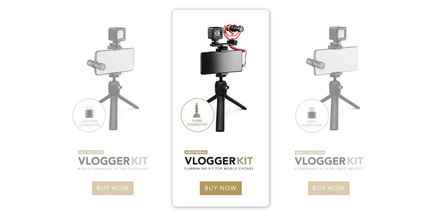 Rode Vlogger Kit ユニバーサル
