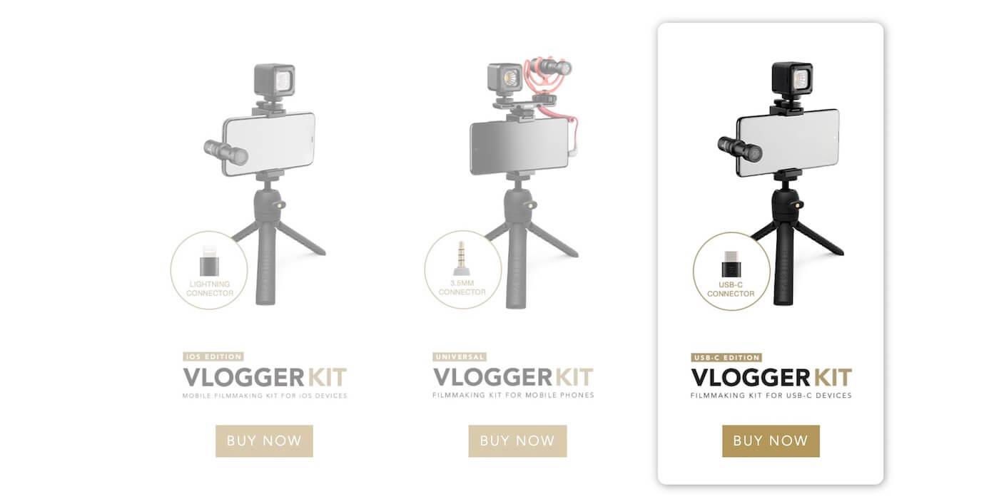 Rode Vlogger Kit USB-C エディション